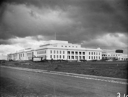 Parliament House almost finished, from north-west