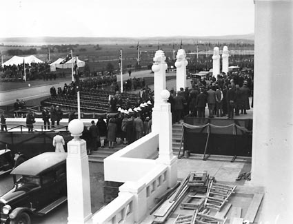 Royal Visit, May 1927- Front of Parliament House during rehearsal