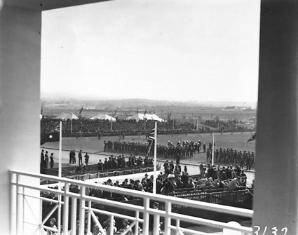 Royal Visit, May 1927 - Scene outside Parliament House from the balcony of the House