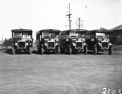 Four AEC Renown omnibuses