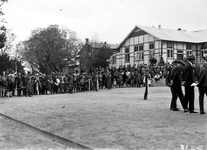 Part of the crowd at the parade at Duntroon RMC [Royal Military College]
