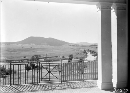 Government House. Molonglo River from balcony of Government House, Yarralumla.