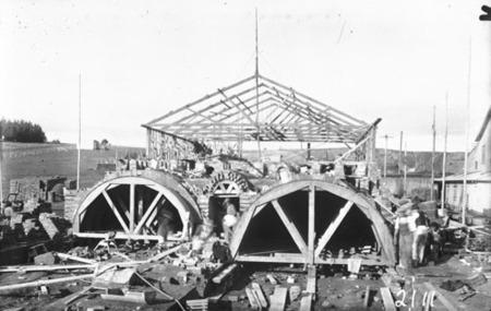 Brick kilns under construction at Canberra Brickworks, Westridge (Yarralumla)