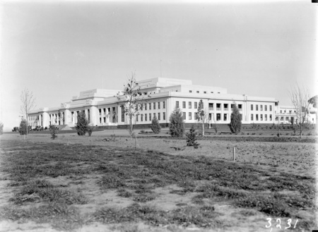 Parliament House from north west. Ready for the opening.