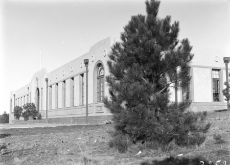 Forestry School frontage of the Australian Forestry School at Banks Street, Yarralumla.