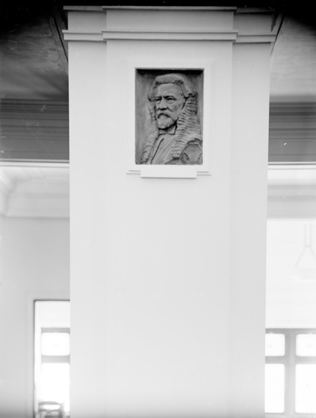 Medallion of Sir Samuel Griffith in Kings Hall, Parliament House.