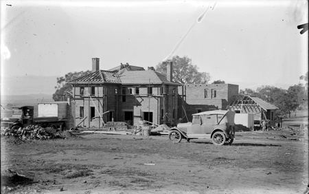 Prime Minister's Lodge, Adelaide Avenue, Deakin, under construction, from north west