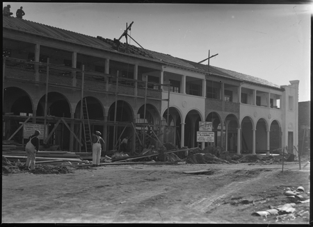 Civic Centre buildings under construction for Federal Newsagency, East Row.