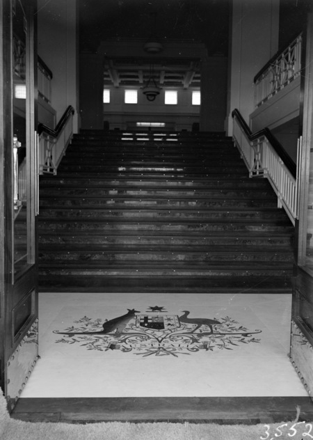 Stairway leading to King's Hall, Parliament House.