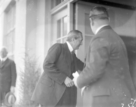 The Right Honorable Stanley Melbourne Bruce opening the Ainslie School in September 1927.