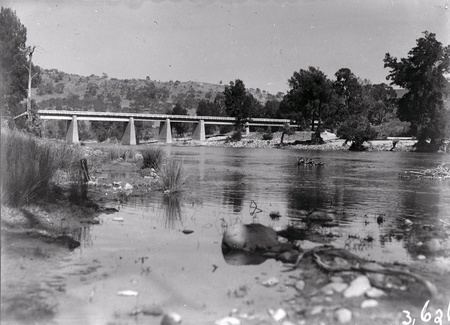 Bridge over the Murrumbidgee River near the Cotter Pump House.