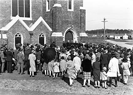 Methodist Church, Coranderrk Street and Dirrawan Gardens, Reid, opening