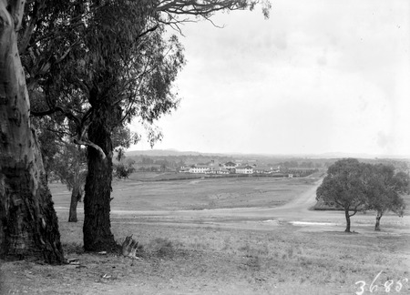 Commonwealth Avenue and Hotel Canberra, from Capital Hill