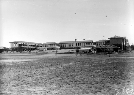 Telopea Park School from the playing fields, New South Wales Crescent, Braddon