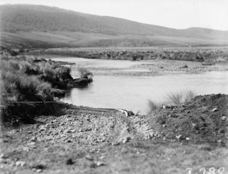 Ford at a river crossing.