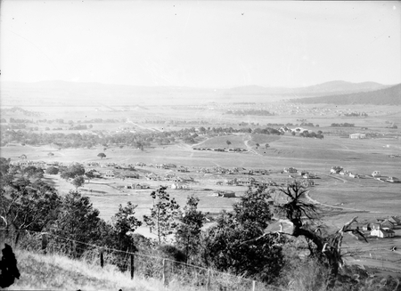 View from Red Hill over Capital Hill toward Civic Centre.
