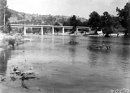 Bridge over the Murrumbidgee River near Cotter Pump House