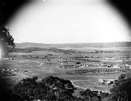 View from Red Hill over Manuka and Kingston to Duntroon