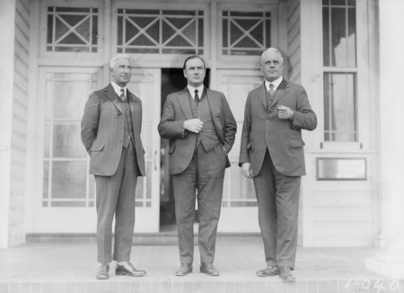 Federal Capital Commissioners - Sir John Butters, Sir John Hanson and TJ Thomas.