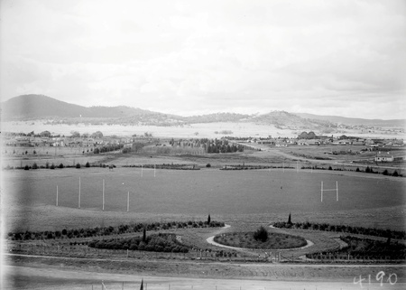 Manuka Oval from Capitol Theatre,Telopea Park in background