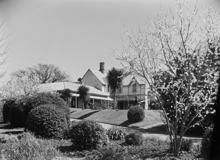 View of the garden from the Officers' Mess, Duntroon House.