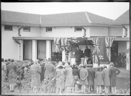 Opening Ceremony, Technical Trade School Telopea Park, 6 June 1928.
