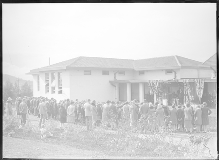 Opening Ceremony, Technical Trade School, Telopea Park, 6 June 1928.