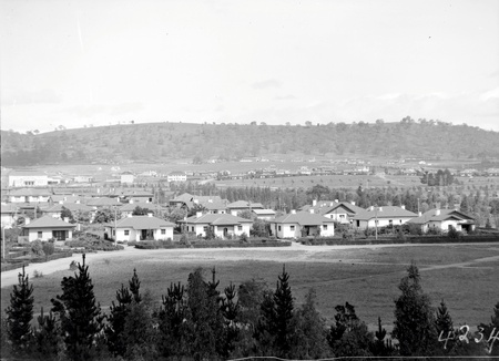 View over Kingston, Telopea Park and Manuka from the Kingston Power Station towards Red Hill