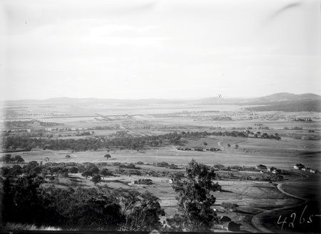 View from Red Hill towards Civic Centre