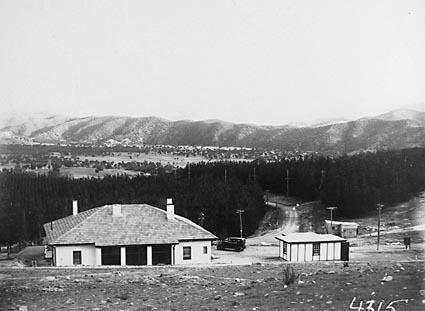 House on Mount Stromlo, Brindabellas in background