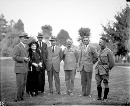 Group at Duntroon-l to r, Prime Minister S.M.Bruce, Mrs Bruce, others not known