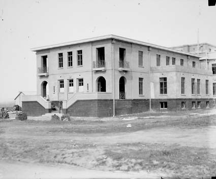 East Block Parkes under construction - View from south east. Built for departmental support for Parliament House. Was Canberra GPO and is now the National Archives of Australia