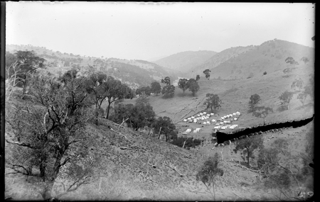 Construction camp for Uriarra Road near confluence of Murrumbidgee and Cotter Rivers.