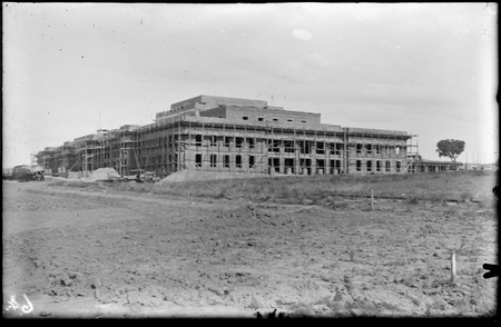 Parliament House under construction, view from the west.