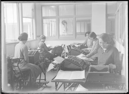 FCC [Federal Capital Commission] comptometer operators at Acton Offices.