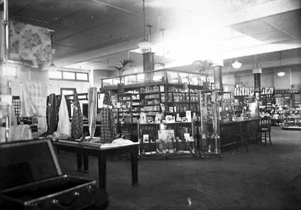 Interior of J B Young's store at Kingston