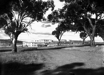 Parliament House looking north east-from Camp Hill