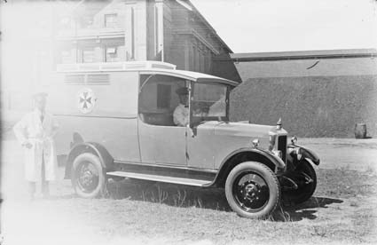 Ambulance van - Kingston Power Station in background