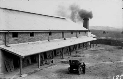 Yarralumla brickwork kilns with car and driver