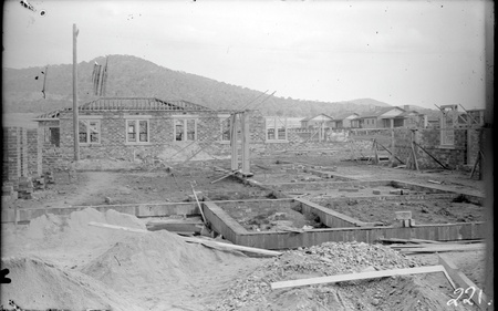 Gorman House, Ainslie Avenue , Reid,  in early stages of construction, looking north