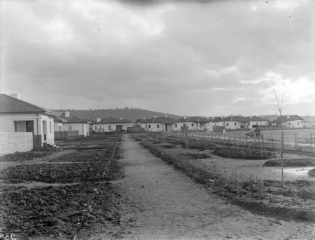 Houses in Gosse Street, Kingston looking towards Red Hill.