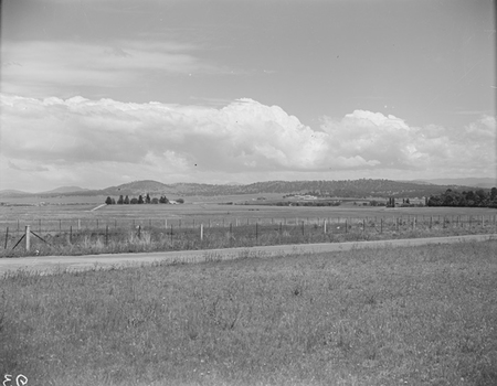 St Johns Church and Parliament House from Braddon (Limestone Avenue, the old Yass Road).