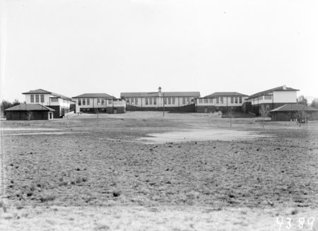 Telopea Park School from the playing fields.