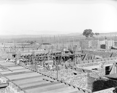 Parliament House under construction from west side wall.
