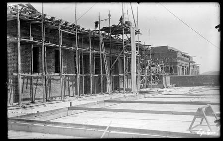 Upper floors of Parliament House under construction.