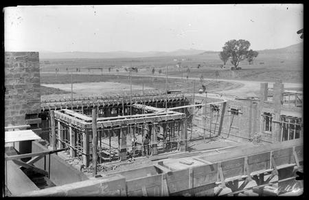 Parliament House. House of Representatives under construction.