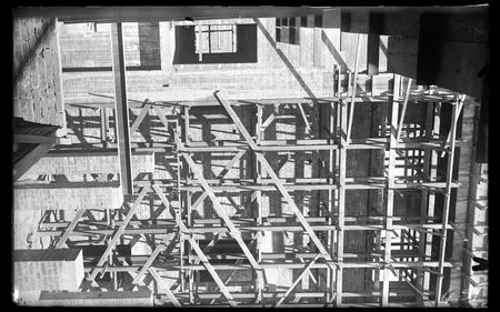 Detail of Parliament House under construction.