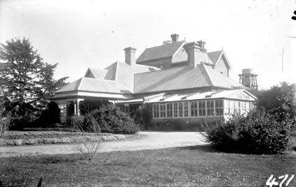 Government House from the north east, Govenor  General's residence. Yarralumla