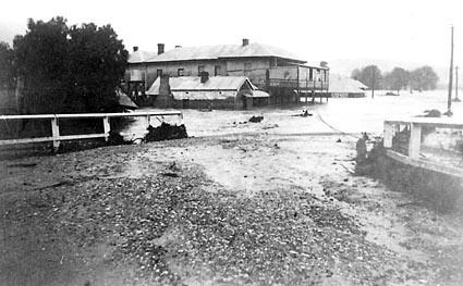 Copies of pictures of Queanbeyan under flood