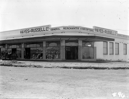Hayes and Russell Ltd store at the corner of Kennedy and Eyre Street, Kingston, Canberra.